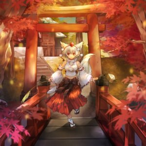Rating: Safe Score: 26 Tags: animal_ears inubashiri_momiji miko settyaro tail touhou User: Mr_GT