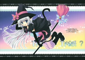 Rating: Safe Score: 30 Tags: animal_ears cascade hasekura_chiaki nekomimi tail thighhighs witch User: midzki
