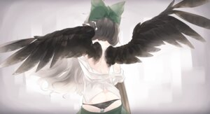 Rating: Questionable Score: 7 Tags: ass no_bra pantsu panty_pull tagme touhou wings User: Mr_GT