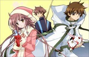 Rating: Safe Score: 17 Tags: detexted fujimoto_kiyokazu hanato_kobato katou_hiromi kobato li_syaoran mokona tsubasa_reservoir_chronicle User: animeprincess