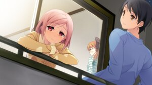 Rating: Safe Score: 33 Tags: game_cg kantoku minagawa_yuuhi nagamine_tomoki pajama your_diary yua User: sakurapremier