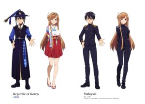 Rating: Safe Score: 34 Tags: asian_clothes asuna_(sword_art_online) kirito sword_art_online uniform User: drop