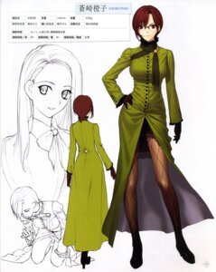 Rating: Safe Score: 16 Tags: aozaki_touko character_design heels koyama_hirokazu mahou_tsukai_no_yoru megane pantyhose sketch type-moon User: Fanla