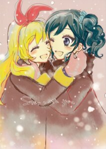 Rating: Safe Score: 9 Tags: aikatsu! hoshimiya_ichigo kiriya_aoi ryonko User: Radioactive