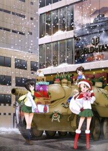 Rating: Safe Score: 29 Tags: christmas girls_und_panzer kadotani_anzu kawashima_momo koyama_yuzu megane seifuku User: drop