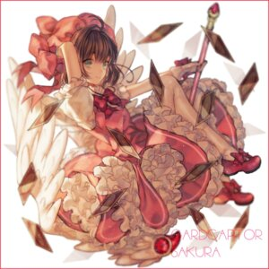 Rating: Safe Score: 47 Tags: card_captor_sakura dress kinomoto_sakura weapon wings yashiromann User: Mr_GT