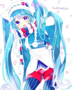 Rating: Safe Score: 15 Tags: hatsune_miku pantyhose tyanotya vocaloid yuki_miku User: charunetra