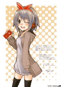 Rating: Safe Score: 11 Tags: headphones miyamae_porin thighhighs User: Hatsukoi
