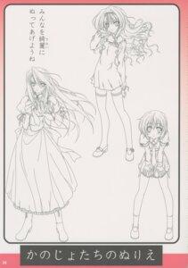 Rating: Safe Score: 6 Tags: 130cm akina_suzutsuki kanojo-tachi_no_ryuugi monochrome sketch yuki_seseri yumihiki_honoka User: admin2