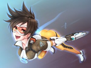 Rating: Safe Score: 20 Tags: bodysuit gun horiishi_horuto overwatch tracer wallpaper User: charunetra