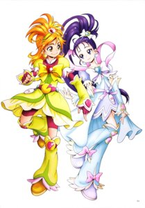 Rating: Safe Score: 5 Tags: bike_shorts dress futari_wa_pretty_cure_splash_star hyuuga_saki kamikita_futago mishou_mai pretty_cure User: drop