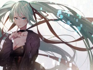Rating: Safe Score: 35 Tags: cleavage hatsune_miku kisui vocaloid User: Mr_GT