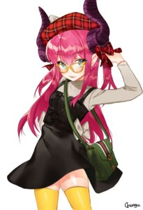 Rating: Safe Score: 18 Tags: chungu fate/grand_order horns lancer_(fate/extra_ccc) megane pointy_ears thighhighs User: nphuongsun93