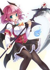 Rating: Safe Score: 58 Tags: devil horns pantyhose weapon yukisan User: fairyren