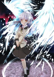 Rating: Safe Score: 48 Tags: angel_beats! seifuku tenshi wings xephonia User: Radioactive