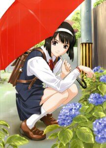 Rating: Safe Score: 21 Tags: happoubi_jin seifuku umbrella User: MDGeist