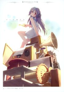 Rating: Safe Score: 32 Tags: flower headphones kantoku kowarekake_no_orgel User: crim