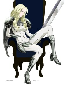 Rating: Safe Score: 19 Tags: armor bisho_no_teresa bodysuit claymore heels sword teresa vector_trace User: biohazard777