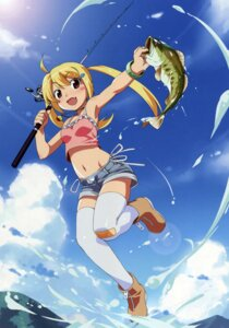 Rating: Questionable Score: 59 Tags: ascii_media_works bandaid jamie let's_try_bass_fishing_fish_on_next pantsu shimapan string_panties thighhighs watanabe_akio User: Radioactive