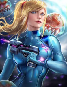 Rating: Safe Score: 51 Tags: bodysuit gun metroid monster sakimichan samus_aran User: charunetra