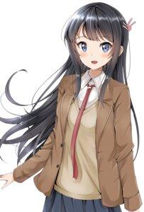 Rating: Safe Score: 20 Tags: sakurajima_mai seifuku seishun_buta_yarou_series sweater tagme User: saemonnokami