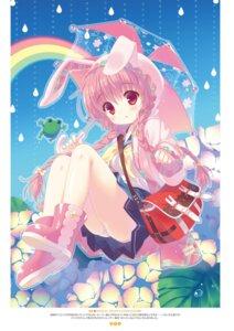 Rating: Questionable Score: 52 Tags: animal_ears bunny_ears pantsu santa_matsuri seifuku umbrella User: Twinsenzw