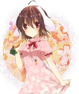 Rating: Safe Score: 23 Tags: animal_ears bunny_ears emyu inaba_tewi touhou User: fairyren