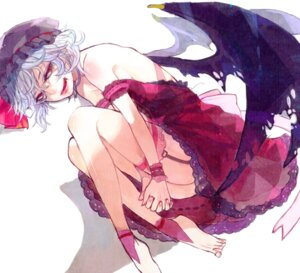 Rating: Safe Score: 10 Tags: garter remilia_scarlet sono stockings thighhighs touhou wings User: Nekotsúh