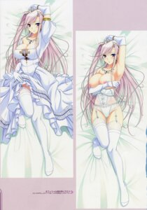 Rating: Questionable Score: 91 Tags: breast_hold breasts charlotte_hazelrink cleavage dakimakura dress garter_belt komori_kei nipples pantsu princess_lover! scanning_dust stockings thighhighs User: fireattack