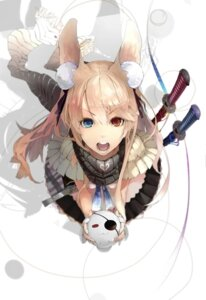 Rating: Safe Score: 65 Tags: animal_ears heterochromia nil sword User: Radioactive