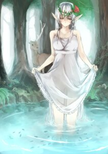Rating: Questionable Score: 25 Tags: dress kyouya pointy_ears see_through skirt_lift wet User: charunetra