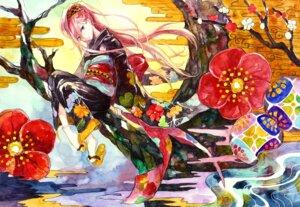 Rating: Safe Score: 9 Tags: japanese_clothes kimono megurine_luka nayuko vocaloid User: yumichi-sama