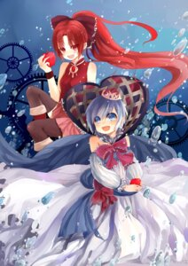 Rating: Safe Score: 7 Tags: dress miki_sayaka puella_magi_madoka_magica sakura_kyouko wedding_dress zeizei User: Radioactive