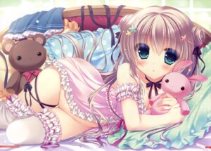 Rating: Questionable Score: 136 Tags: cleavage lingerie nopan thighhighs yukie User: Twinsenzw
