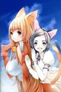 Rating: Safe Score: 22 Tags: animal_ears asobi_ni_iku_yo! binding_discoloration houden_eizou nekomimi User: Wraith