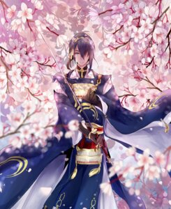 Rating: Safe Score: 10 Tags: armor japanese_clothes male mikazuki_munechika sword touken_ranbu zya_zya User: charunetra