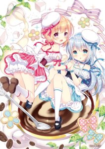 Rating: Safe Score: 78 Tags: bloomers dress gochuumon_wa_usagi_desu_ka? hoto_cocoa kafuu_chino wasabi_(artist) User: fireattack