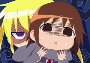 Rating: Safe Score: 9 Tags: chibi kill_me_baby oribe_yasuna seifuku sonya_(kill_me_baby) vector_trace User: Lucky_Otaku