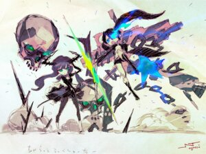 Rating: Safe Score: 19 Tags: black_rock_shooter black_rock_shooter_(character) chibi dead_master jnthed vocaloid User: gh1988127