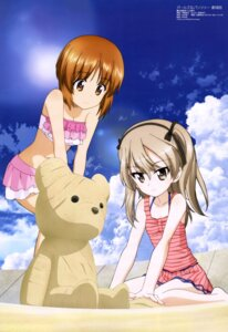 Rating: Safe Score: 65 Tags: bikini girls_und_panzer itou_takeshi nishizumi_miho shimada_arisu swimsuits User: drop