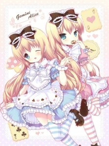 Rating: Safe Score: 49 Tags: 7sta alice alice_in_wonderland dress lolita_fashion thighhighs User: Nekotsúh
