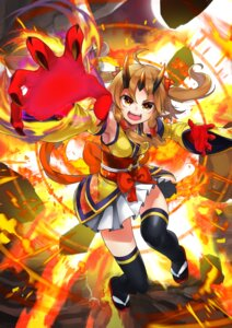 Rating: Safe Score: 3 Tags: baniran_dorosu horns japanese_clothes pointy_ears thighhighs User: Mr_GT