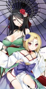 Rating: Questionable Score: 50 Tags: 47agdragon bra cleavage digital_version kimono open_shirt umbrella User: AltY