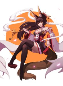 Rating: Safe Score: 40 Tags: animal_ears cleavage heels hongchajun japanese_clothes kitsune smoking tail thighhighs User: Mr_GT