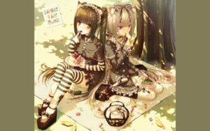 Rating: Safe Score: 36 Tags: animal_ears chocola gothic_lolita lolita_fashion nekomimi nekopara sayori tail thighhighs vanilla wallpaper User: kotorilau