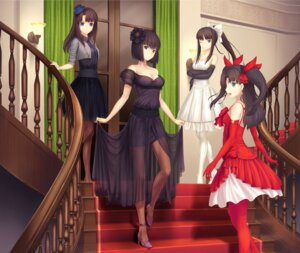 Rating: Safe Score: 125 Tags: crossover dress fate/stay_night heels kara_no_kyoukai kokutou_azaka kuonji_alice mahou_tsukai_no_yoru pantyhose toono_akiha toosaka_rin tsukihime tsukikanade User: omegakung