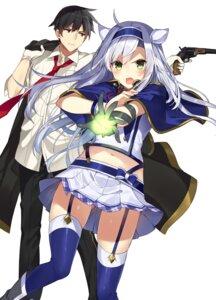 Rating: Safe Score: 47 Tags: glenn_radars gun mishima_kurone rokudenashi_majutsu_koushi_to_kinki_kyouten seifuku sistina_fibel stockings thighhighs User: saemonnokami