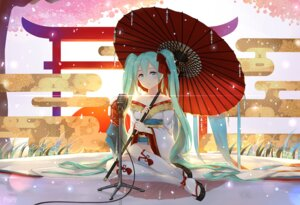 Rating: Safe Score: 47 Tags: hatsune_miku kimono maya_g umbrella vocaloid User: Mr_GT