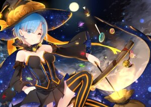 Rating: Safe Score: 73 Tags: cleavage halloween maya_g re_zero_kara_hajimeru_isekai_seikatsu rem_(re_zero) thighhighs weapon witch User: Mr_GT