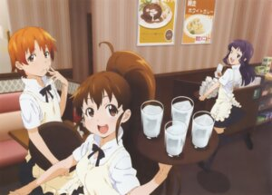 Rating: Safe Score: 21 Tags: inami_mahiru sakazaki_tadashi taneshima_poplar waitress working!! yamada_aoi User: vita